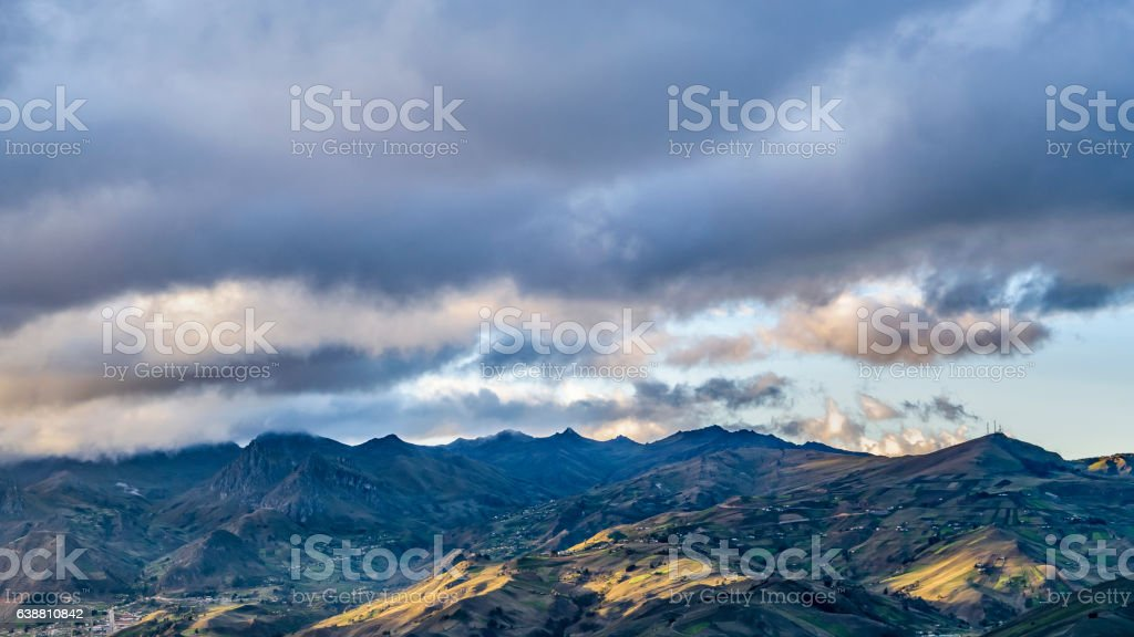 Andes Range from Top of Quilotoa Crater001 stock photo
