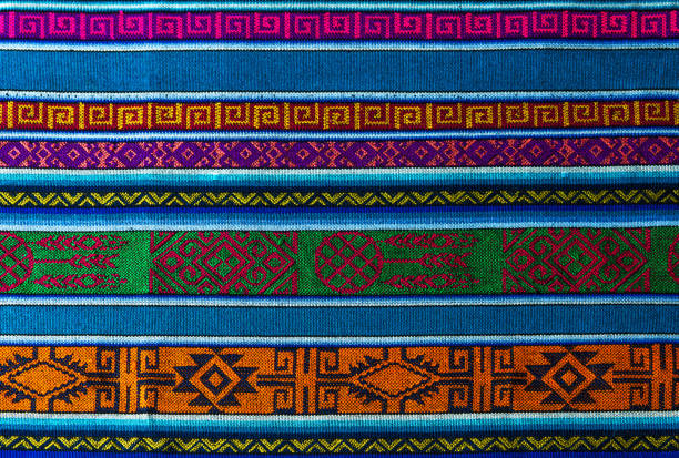 Andes Traditional Textile Detail of the typical traditional Andes textiles that can be found in Ecuador, Peru and Bolivia. tradition stock pictures, royalty-free photos & images
