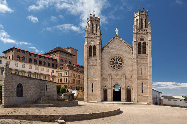 Andohalo cathedral, Antananarivo, Madagascar stock photo