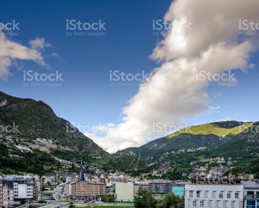 Andorra La Vella, capital de andorra - foto de acervo