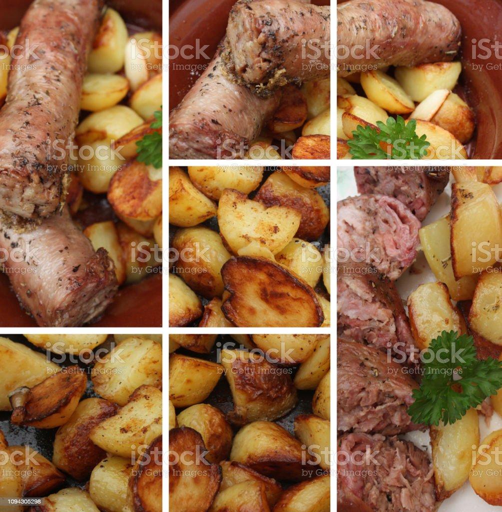 Andouillette pommes de terre sautées à l'ail - Photo