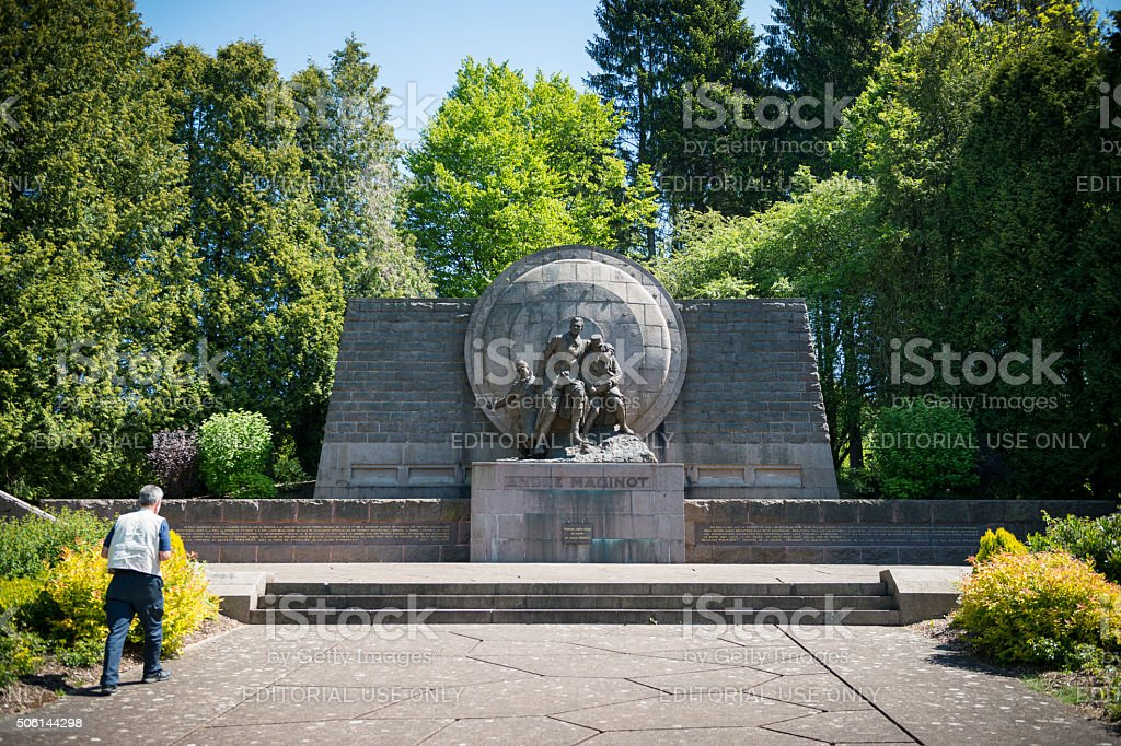 André Maginot Memorial near Verdun, France stock photo