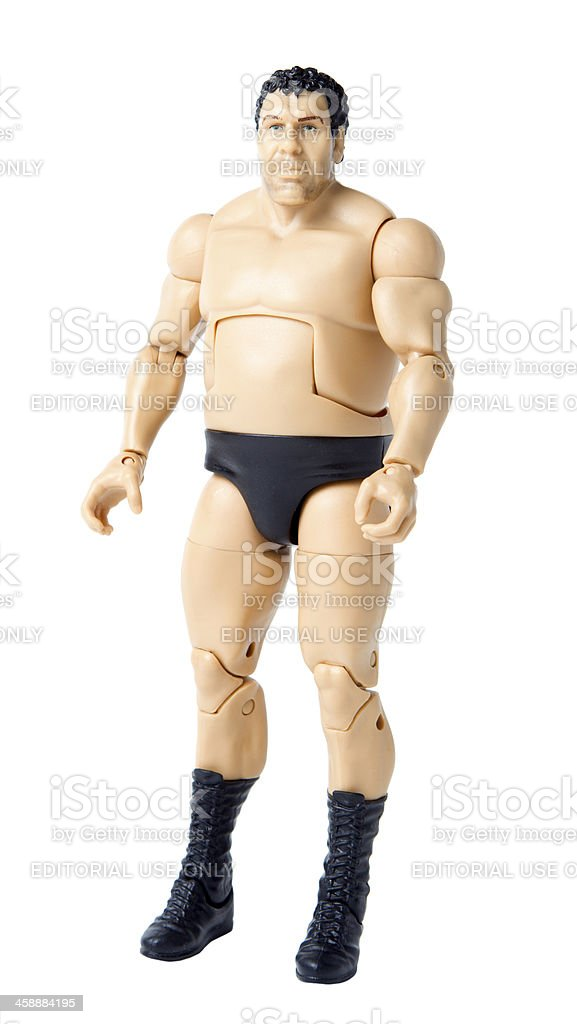 Andre the Giant Toy stock photo