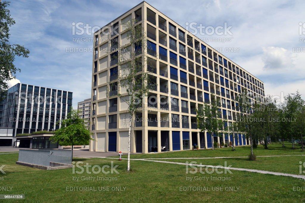 Andreaspark - Zuerich - Lizenzfrei Architektonisches Detail Stock-Foto