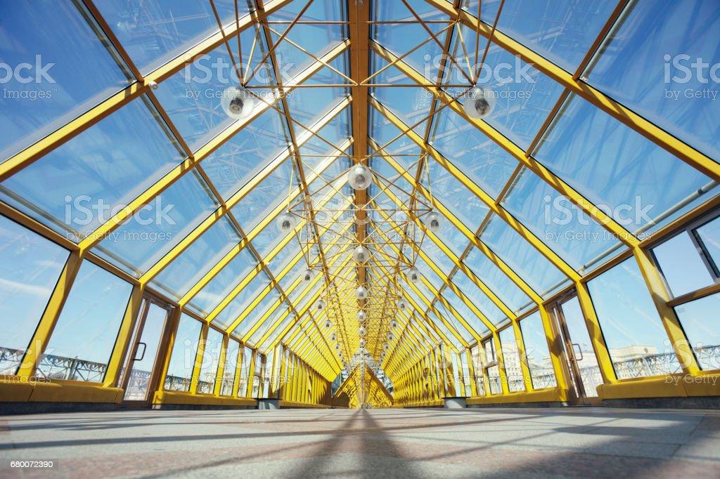 Andreevsky (Pushkin) bridge inside. Moscow stock photo