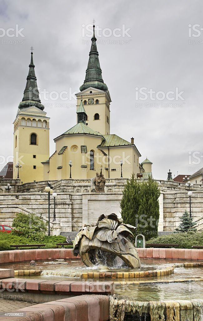 Andrej Hlinka square in Zilina. Slovakia stock photo