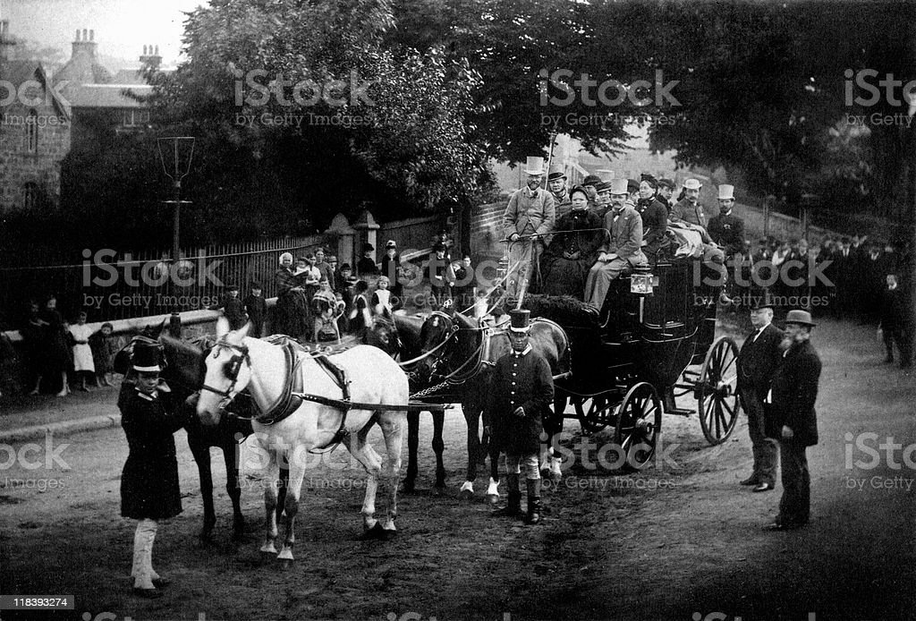 Andrew Carnegie Rides Coach in London stock photo
