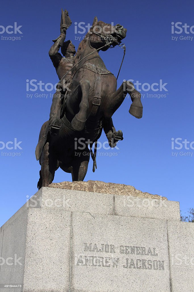 Andrew Jackson Monument stock photo