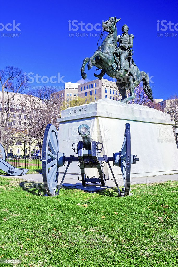 Andrew Jackson Monument, Washington DC stock photo