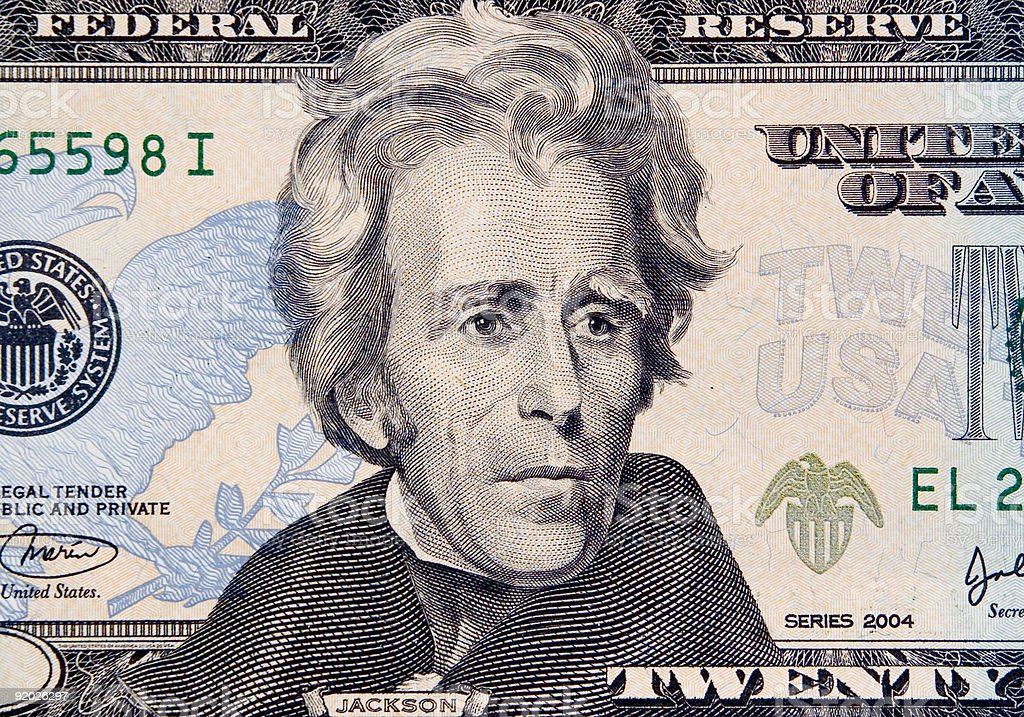 Andrew Jackson stock photo