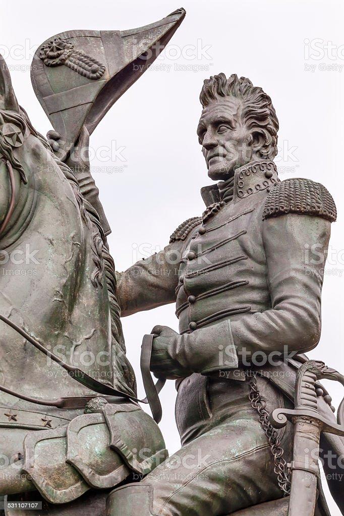 Andrew Jackson Statue Lafayette Park Pennsylvania Ave Washington stock photo