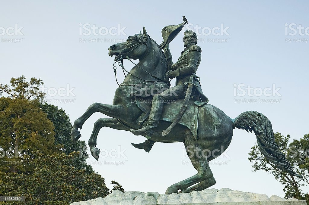 Andrew Jackson statue stock photo