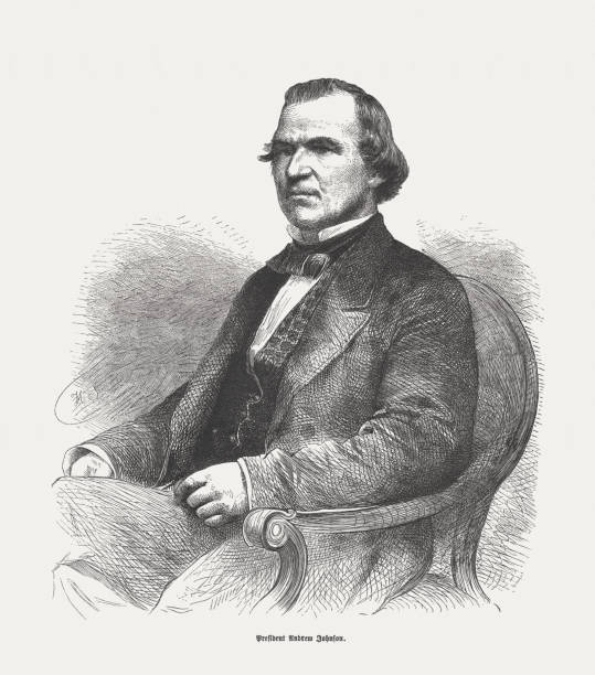 Andrew Johnson (1808-1875), 17th President of the United States – Foto