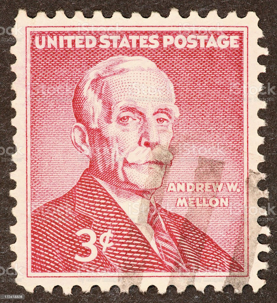 Andrew Mellon stamp royalty-free stock photo