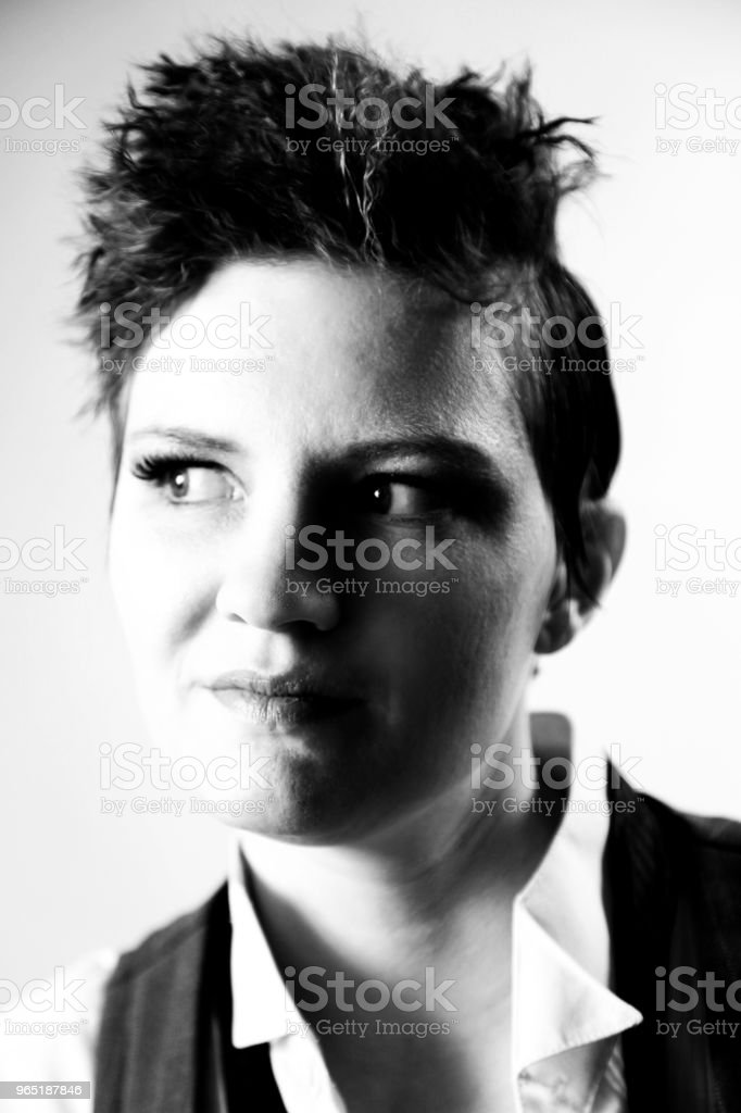 Androgynous fashion female royalty-free stock photo