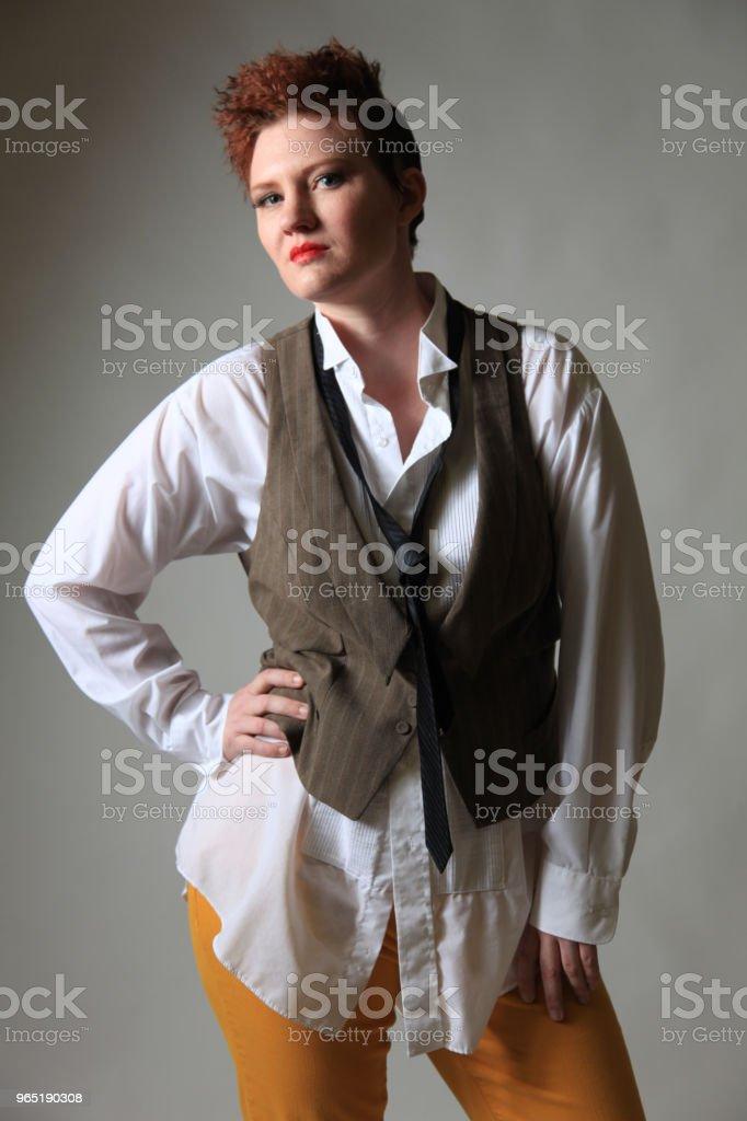 Androgynous fashion female zbiór zdjęć royalty-free