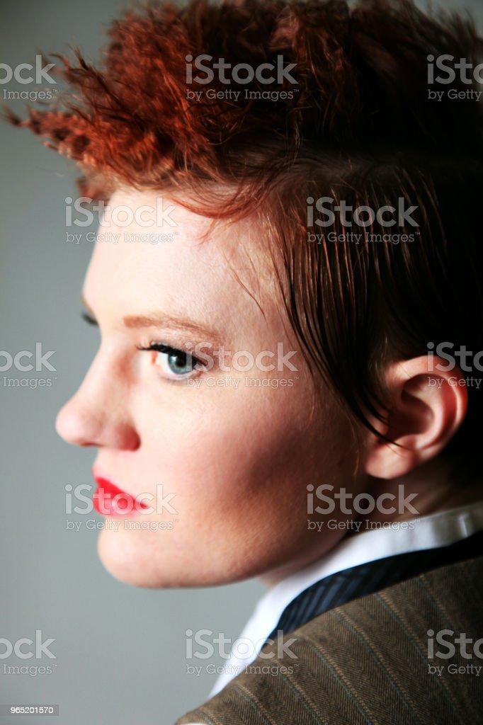 Androgynous fashion female royalty-free stock photo