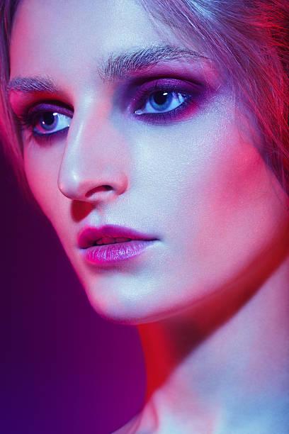 Androgynous futuristic beauty stock photo