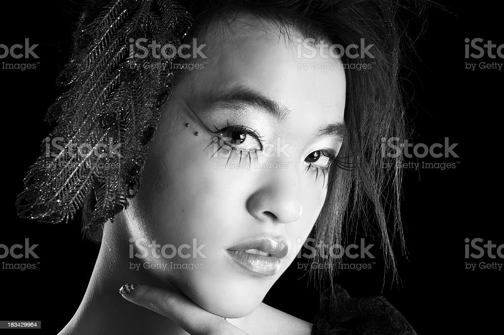 Androgynous gay Asian teenager, portrait. royalty-free stock photo