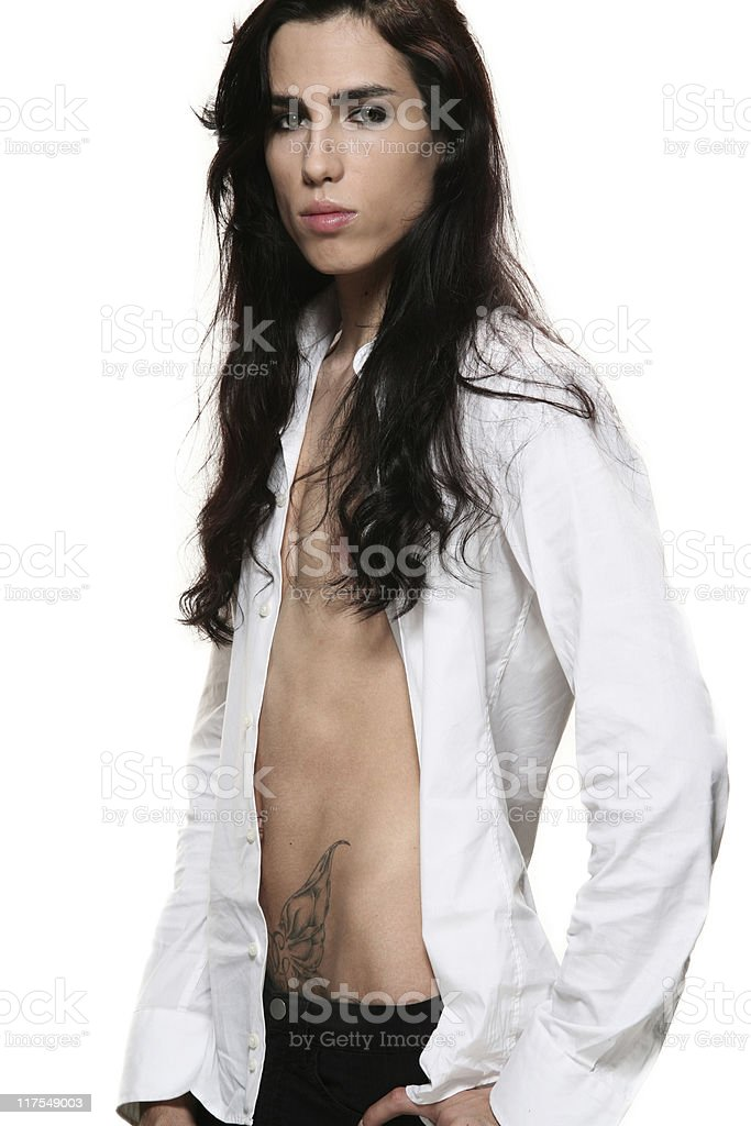 androgynous men royalty-free stock photo