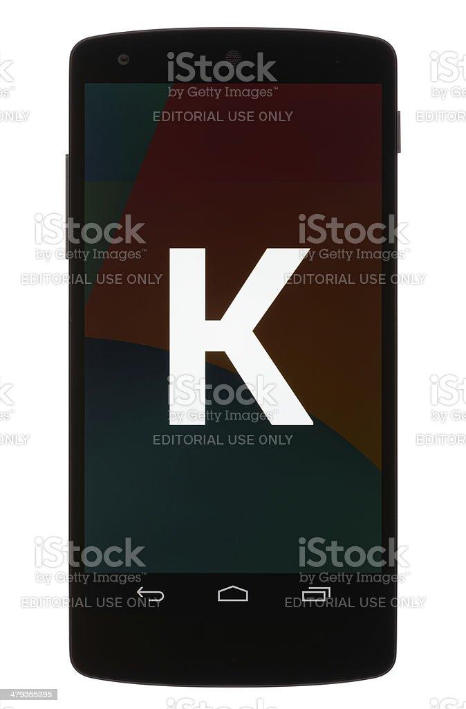 Android KitKat Easter Egg stock photo