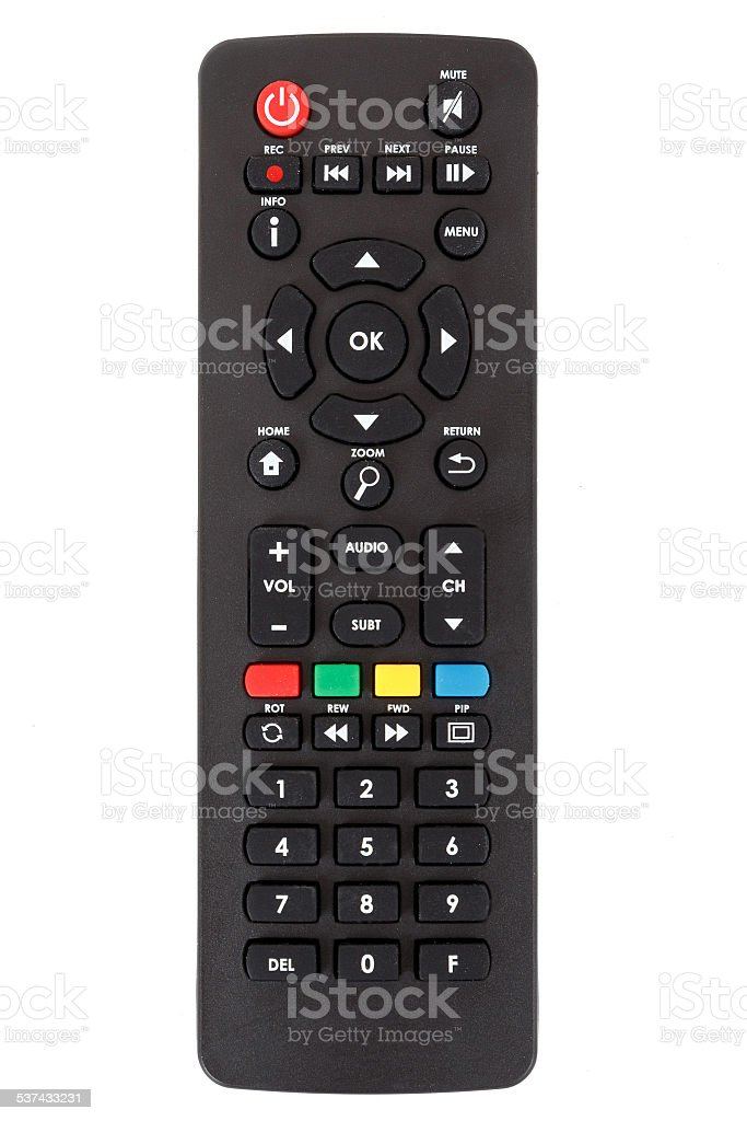 Android Set Top Box Tv Remote Control Isolated Stock Photo