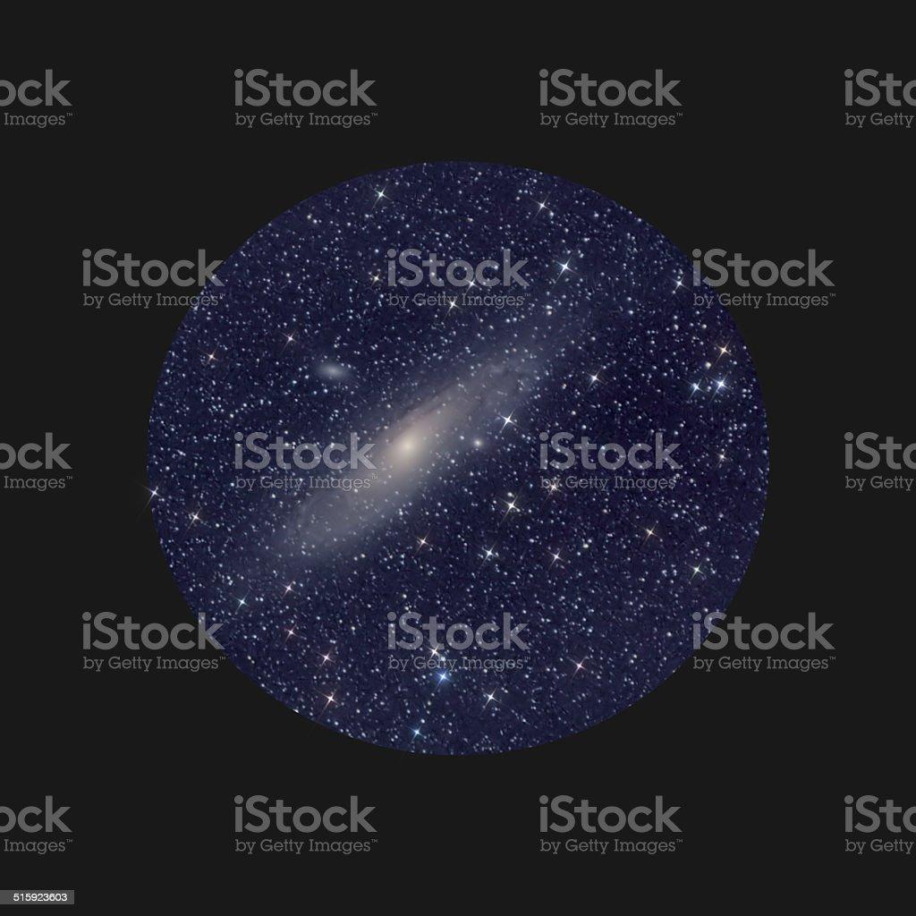 Andromeda nebula space telescope stock photo