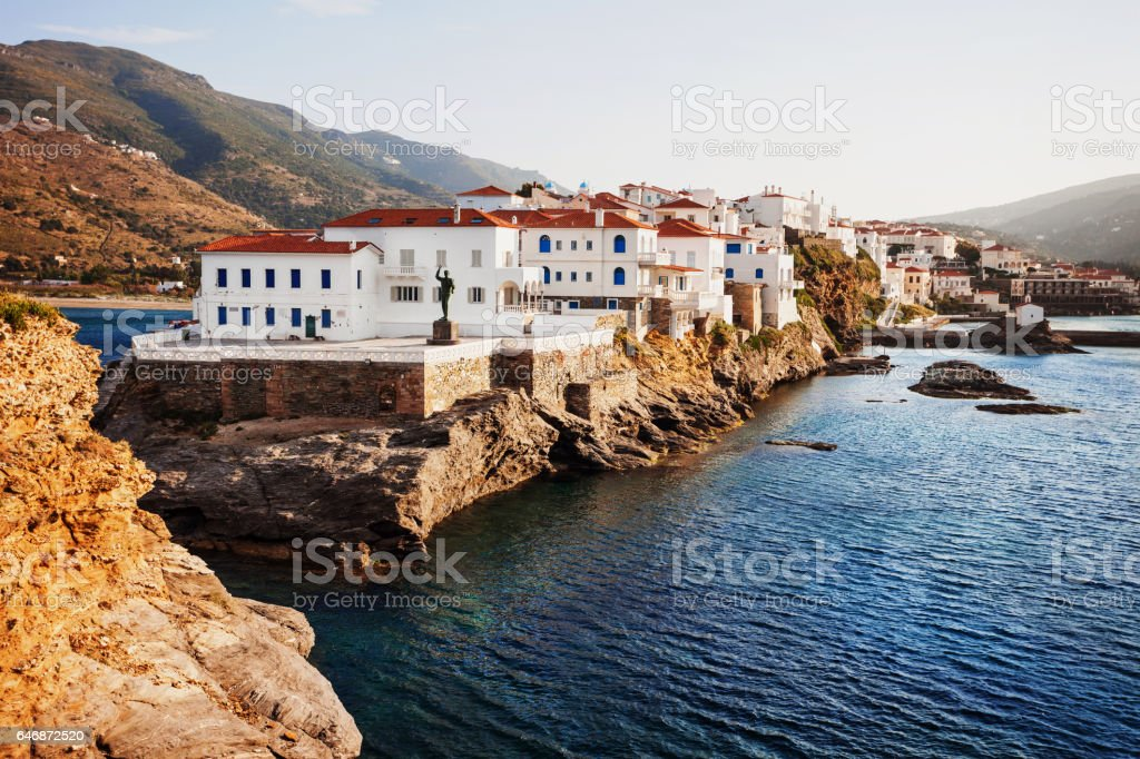 Andros island, Cyclades, Greece stock photo