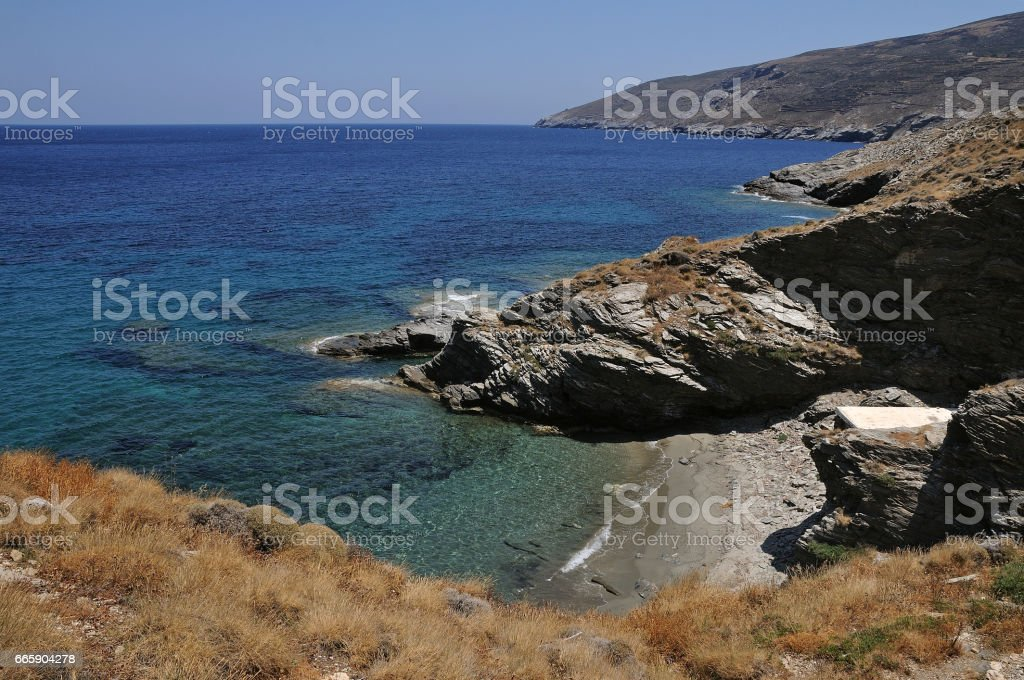Andros island Landscapes.Cyclades Greece. foto stock royalty-free