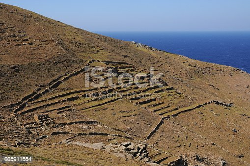 Andros island Landscapes.Cyclades Greece.