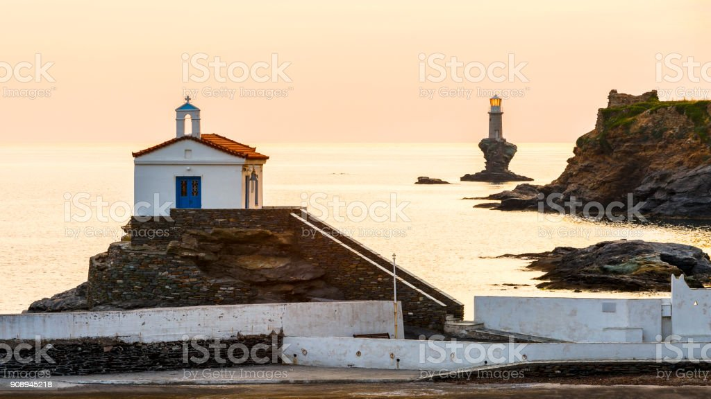 Andros island. stock photo