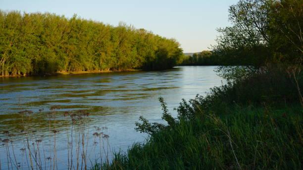 Androscoggin River View In Bethel Maine stock photo