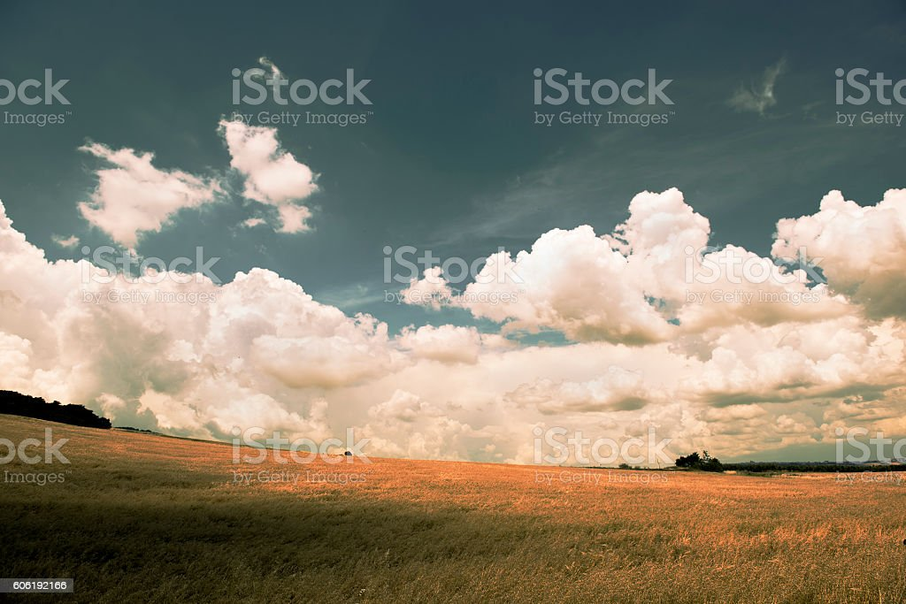 andscape in autumn Filtered image stock photo