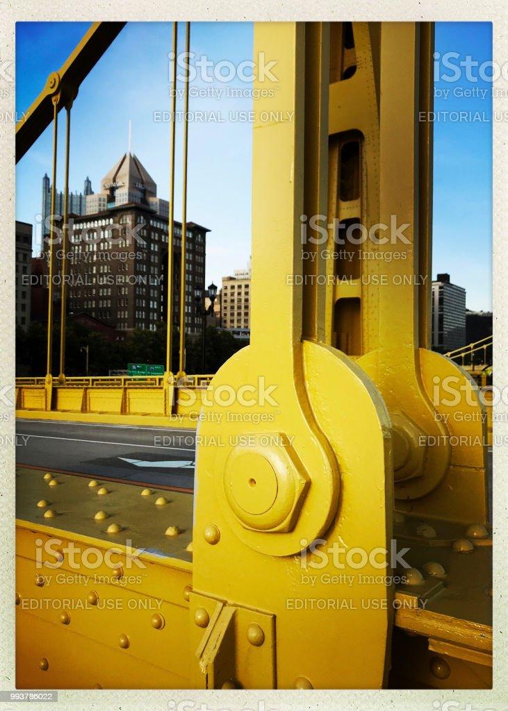 Andy Warhol Bridge and Downtown Pittsburgh stock photo