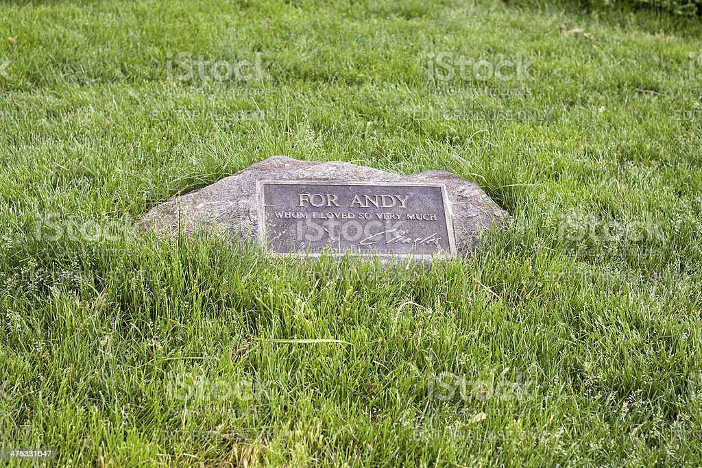 Andy Warhol Memorial in Central Park stock photo