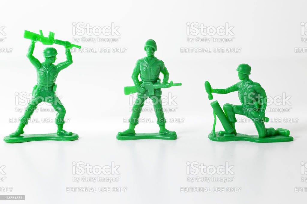 Andys Toy Soldiers stock photo