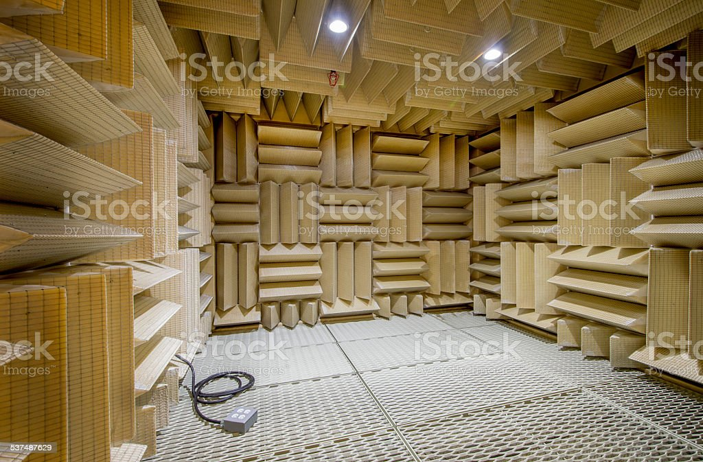 Anechoic Test Chamber stock photo