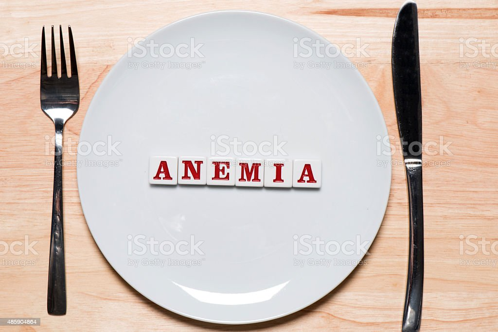 Anemia - healthy eating concept stock photo