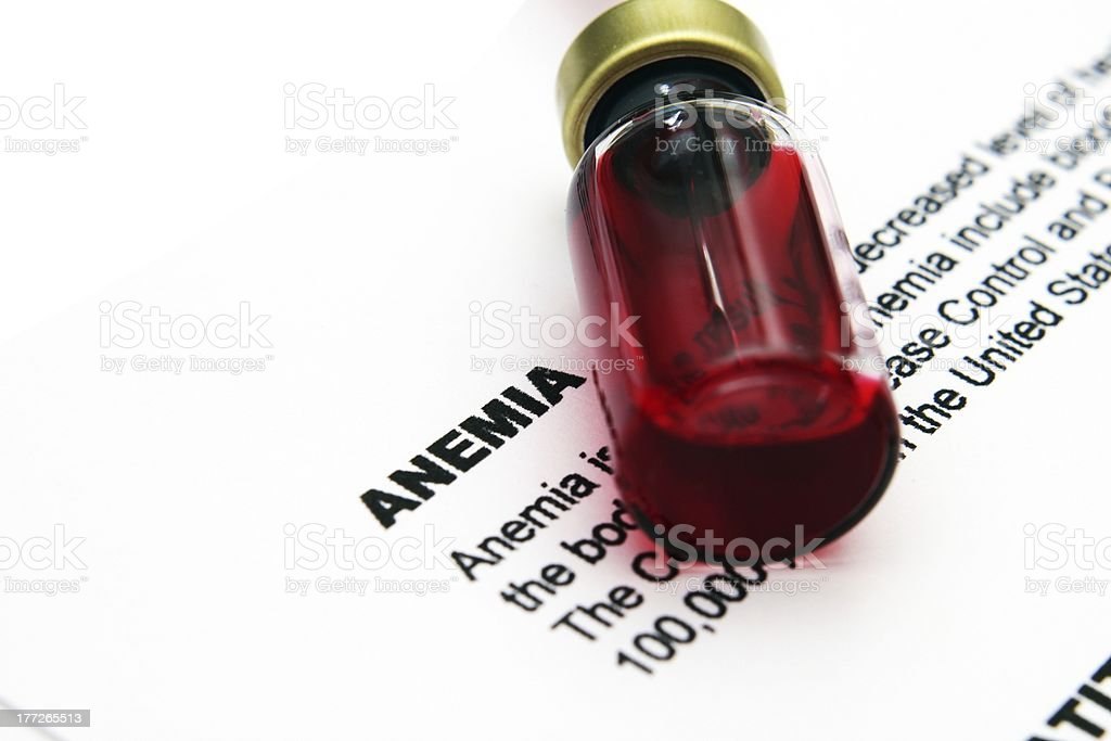 Anemia royalty-free stock photo