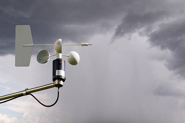 Anemómetro de tormenta - foto de stock