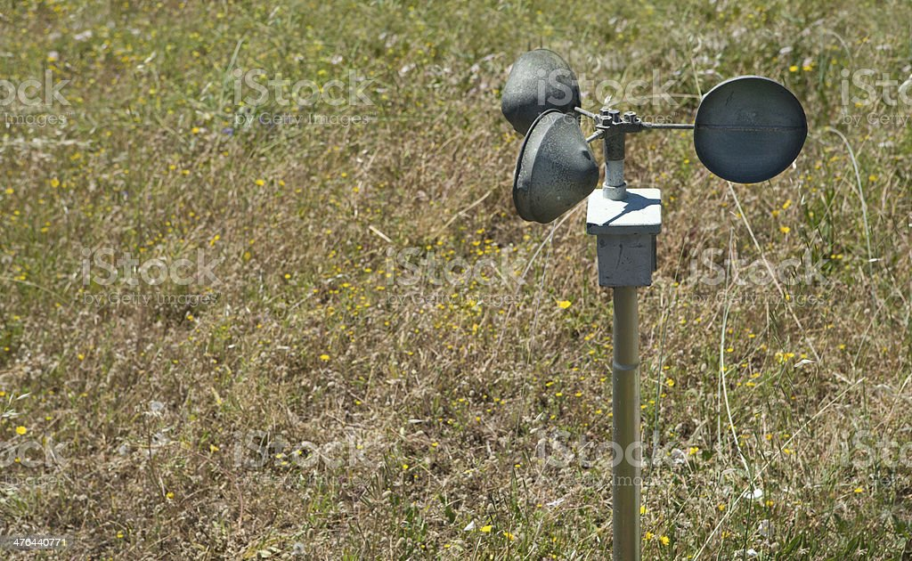 Anemometer on the ground royalty-free stock photo