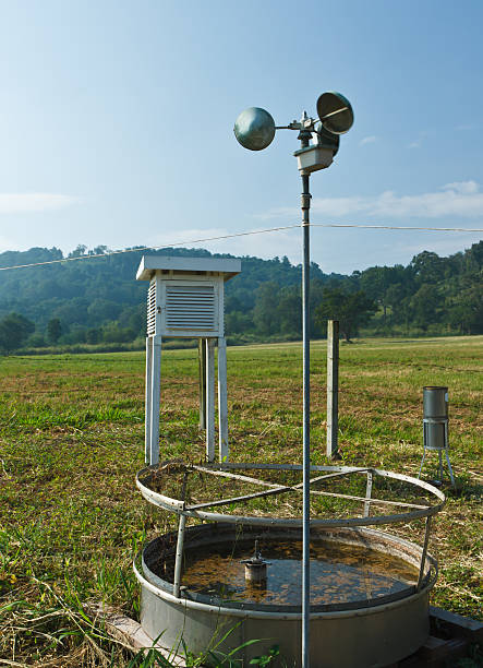 anemometer - rain gauge stock photos and pictures