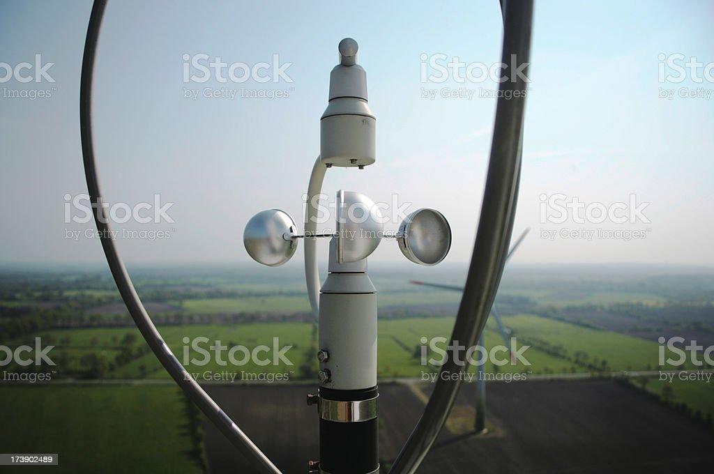Anemometer stock photo