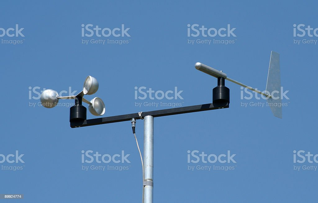 Anemometer royalty-free stock photo