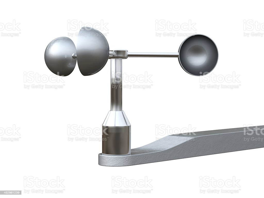 Anemometer, wind speed  measuring device. stock photo