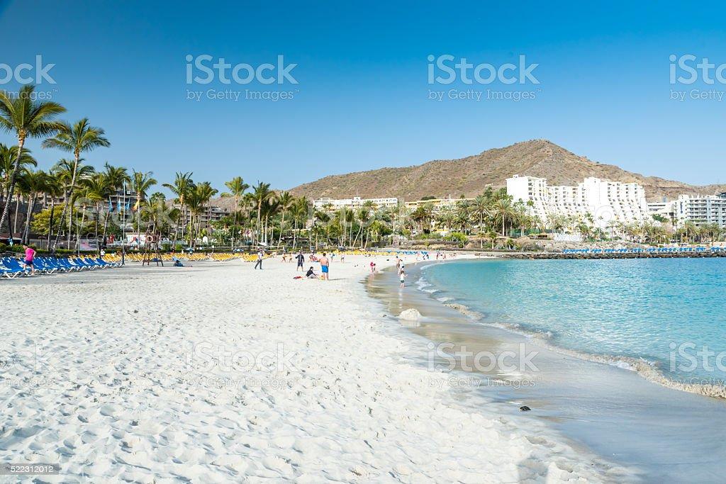 Anfi beach - Gran Canaria, Spain stock photo