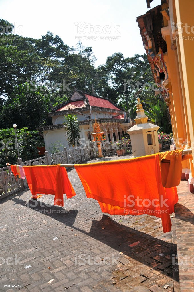Ang Pagoda, Tra Vinh province, Vietnam stock photo