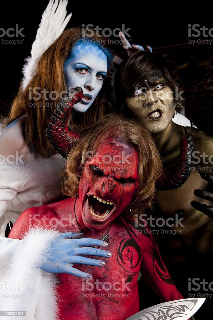 Angel and Devils royalty-free stock photo