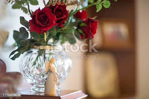 Angel and Red Roses