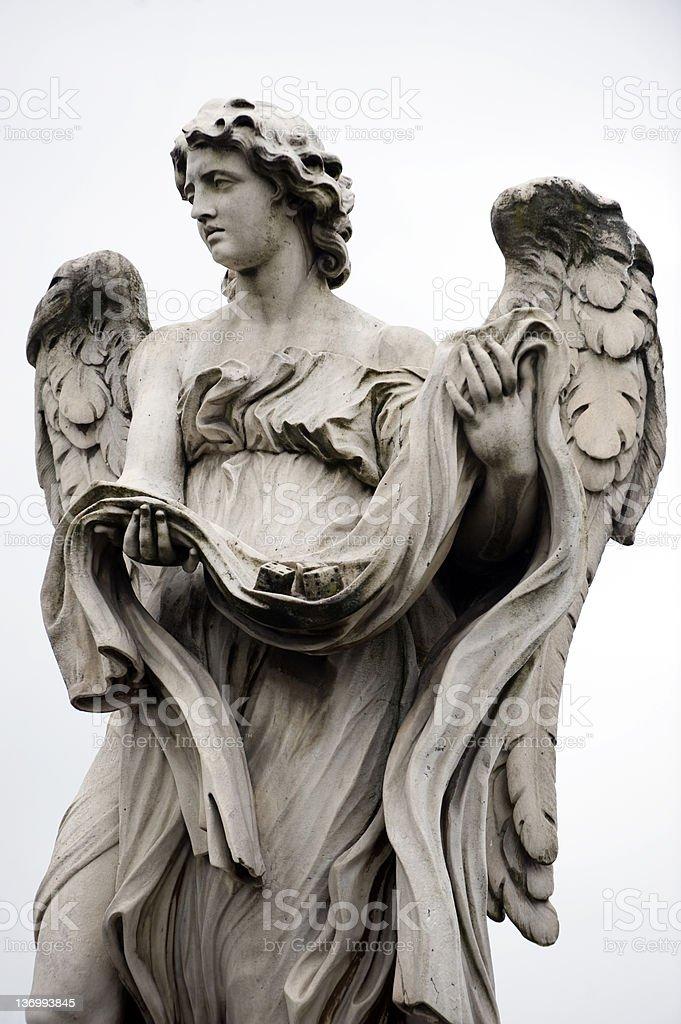 Angel by bernini, Rome stock photo